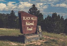 Welcome sign to The Black Hills