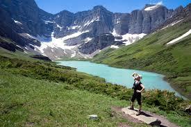 Mountain lake in Glacier National Park